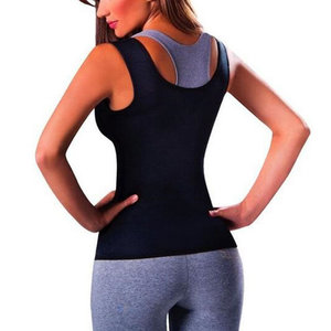 Thermo Neoprene Body Shaper Slimming Waist Trainer Yoga Vest - passar M/L (märkt XL)