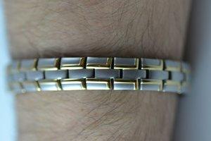 Magnetarmband i borstat, rostfritt stål - Herr