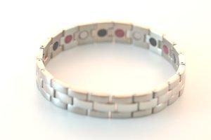 Magnetarmband + IR + ION i borstat, rostfritt stål - Herr
